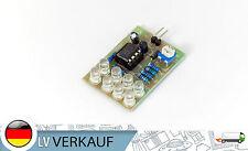 12V LED Blitzlicht Lampe blau 2,56mm Pin connector Modul LM358 Chip 8 blaue LEDs