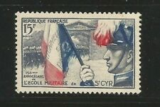 76Ñ) FRANCE 1954** ANIV. L'ECOLE MILITAIRE SAINT CYR - YVERT nº 996 (MNH)