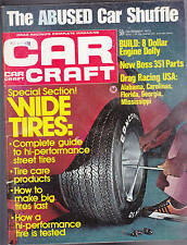 Car Craft Magazine Drag Racing USA Wide Tires  December 1972  FREE US S/H