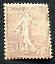 France N°133 30c violet Neuf ** bon centrage et TB qualité côté 550 € +50%