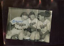 Original 6 X 8 Wire Photo Leo Durocher Brooklyn Dodgers Autographed Hologram