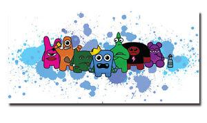 ~7 Sins - Splat - 20cm x 50cm - Urban Graffiti Canvas. Kidrobot, street monster~