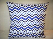 Waverly Blue Stripe Pillow Cover Navy White Cotton Modern Home Decor Handmade