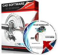 2D & 3D Modelling Suite on DVD. Professional Computer Aided Design CAD Software