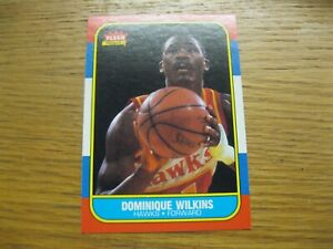 1986 Fleer Basketball Dominique Wilkins HOF rookie  #121 NM-MT sharp