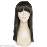 European Style Simple Beautiful Long Straight Hair Fringe Girls/Women Wigs E-4