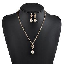Perle Parures Boucles d'oreille Collier Strass Ensembles Crystal Mariage Bijoux
