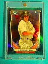 2014 BOWMAN CHROME > GREEN BUBBLES > MICHAEL O'NEILL (RC) Serial #'d (4/99) MINT