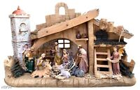"Nativity House 14"" x 9""  Baby Jesus, Mary, Joseph,3 Kings,Animal high quality"