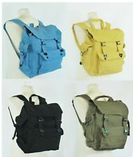 Large Strong Canvas Rucksack/Backpack Laptop Satchel Bag Blue/Yellow/Green/Black