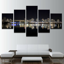 Vancouver City Landscape 5 panel canvas Wall Art Home Decor Print Poster