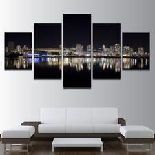Vancouver City Landscape 5 panel canvas Wall Art Home Decor Print Poster