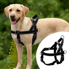 Dog No Pull Harness Reflective Adjustable Large Dogs Front Clip Vest with Handle