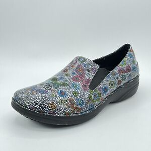 Spring Step Womens Freesa Clogs Red Blue Floral Clogs Slip On Size 8