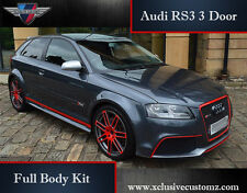 Audi RS3 3 Door Body Kit for Audi A3 8P 2004 to 2009 Tuning Facelift Conversion