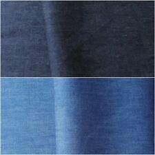 4oz Denim Fabric: Soft Washed Plain Lightweight Metre Dark Chambray 145cm Wide