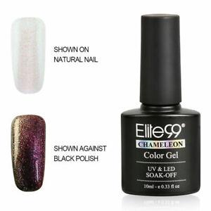 Elite99 UV LED Chameleon Color Changing Nail Gel Polish Base Top Coat Manicure