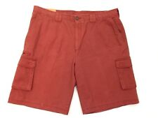 Savane Flat Front Cargo Shorts Mens Size 40 Austin Twill Relaxed Fit Red New