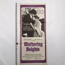 WUTHERING HEIGHTS - Original 1970 Australian DAYBILL - Timothy DALTON .