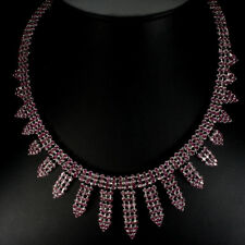 REAL GEM 405.88CT. Red Pink Ruby 925 Silver CLEOPATRA BIB,CHOKER,TENNIS Necklace