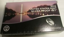 2013 Silver Proof Set U.S. Mint Box and COA 14 coins 5 Quarters 4 Dollars