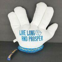 STAR TREK Mr Spock Live Long And Prosper Vulcan Salute Plush Hand Mitt One Size