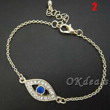 Hamsa Women Amulet Fatima Hand Rhinestone Bracelet Evil Eye 2