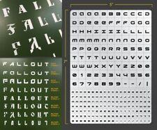 Sci-Fi Lettering Airbrush Stencil 2 Lettering Schablonen Maskierung Buchstaben