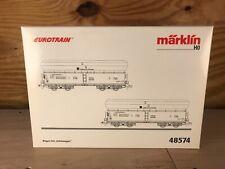 Marklin 48574 HO - DB 2 Coal Hopper Set (With Load) - Brand New