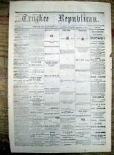 1874 California newspaper Confederate Civil Guerilla WILLIAM QUANTRILL biography
