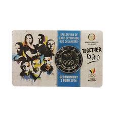 """Belgium 2 Euro commemorative coin 2016 """"Olympics games Rio - Team Belgium"""" - UNC"""
