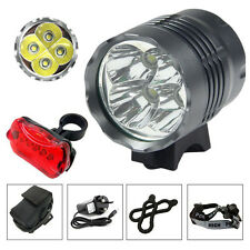 4x Cree XML T6 LED Rechargeable Mountain Bike Lights Headlight Headlamp Torches
