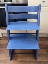 Stokke Tripp Trapp original wooden Highchair In Blue Colour