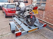 3 MOTORBIKE MOTORCYCLE TRAILER FOR HIRE/RENT LONG EATON