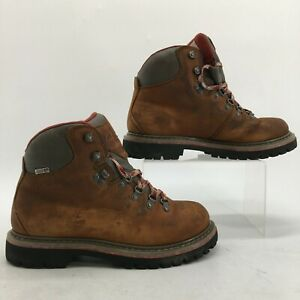 Cabela's Vintage Trail Hiking Boots Mens 8 M Brown Leather Waterproof 84-3239