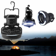 2 In 1 Camping Ceiling Fan Light Hanging Tent Lamp Lantern Outdoor 18 LED Lamp