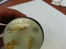 HUBBELL AND COOPER 20 AMP TURN AND PULL GROUNDED PLUGS(LOT OF 40 FOR $400)