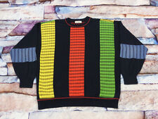 * Carlo Colucci Casual Retro Sweater * Red Green Yellow *Vintage* Traffic Lights
