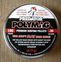 PREDATOR POLYMAG .30 Caliber PELLETS 100 EACH 44.75 grain THE BEST FOR HUNTING