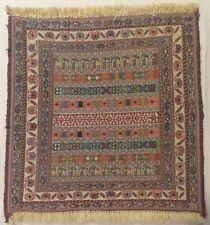 Caucasian Carpet,New handmade mat,Natural dyes of woolen threads 41x46sm.