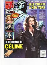 CELINE DION  RARE 7 JOURS MAGAZINE VOLUME 12 OCTOBER 2001 VEGAS WITH RENE