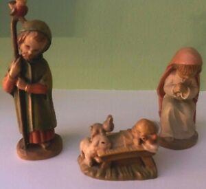 VINTAGE MINIATURE ANRI FERRANDIZ CARVED WOOD NATIVITY MARY JOSEPH BABY JESUS