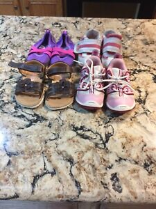 Lot 4 Girls Toddler Shoes Size 5, 6- Ralph Lauren Polo,Circo,Speedo,New Balance