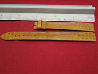 GENUINE PIAGET 14MM BROWN CROCODILE ALLIGATOR BAND BRACELET STRAP