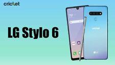 """New listing Lg Stylo 6 Lmq730Am4 - 64Gb - Blue (Cricket Wireless) 6.8"""" Full Hd 13Mp Octa-Cor"""