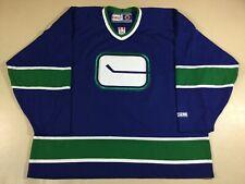 Vintage Vancouver Canucks Hockey NHL CCM Jersey Size2XL
