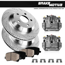 Rear Brake Calipers & Rotors + Pads For 2007 2008 2009 - 2015 Sequoia Tundra