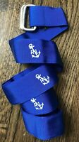 $249 Polo Ralph Lauren Mens 34 Blue Anchor Sailing Boat Golf Adjustable Belt USA