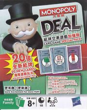 Monopoly Deal Hong Kong Special Birthday Travel Car Party Poker Card Board Game