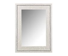 Espejo De Pared Con Marco De Cristales Blanco Y Negro, elaboración artesanal